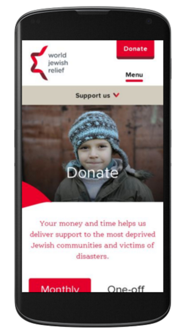 World Jewish Relief mobile
