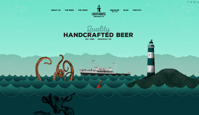 Lighthouse Brewery Homepage detail