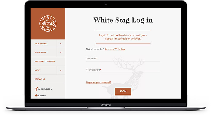 Arran Whisky Community Whiute Stag